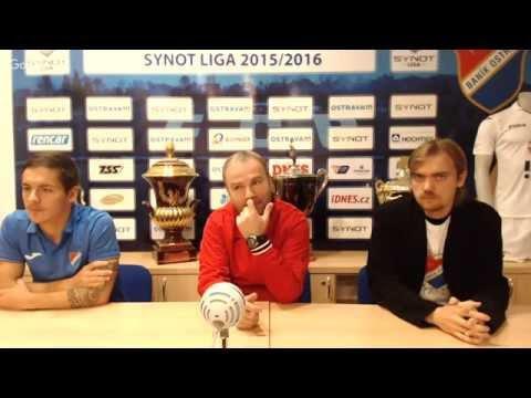 Tisková konference FC Baník Ostrava před utkáním s AC Sparta Praha