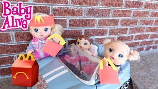 BABY ALIVE McDonalds Abby and Pumpin Go To McDonalds