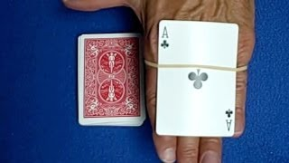 Card Trap - Rubber Band Card Trick Revealed