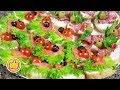 Праздничные Бутерброды Двух Видов На НОВЫЙ ГОД 🎄 | Закуски Яркие и Вкусные | Юлия Ковальчук