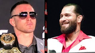 Jorge Masvidal Leads Chant Calling Colby Covington P##sy  (UFC 244)