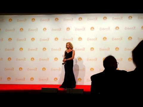 Jessica Lange (American Horror Story) at 2014 Emmy Awards (back stage)