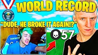 Ninja Reaction when he finds out Tfue BREAKS World Record again! (His Thoughts)