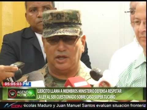 Ejercito llama a miembros Ministerio Defensa respetar la Ley al ser cuestionado sobre caso Tucanos