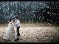 Lagu Perfect dance (Ed Sheeran) Beach wedding with waterfall firework