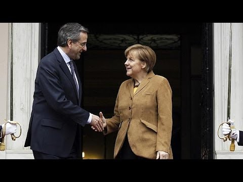 Merkel goes to Greece bearing congratulations and business support