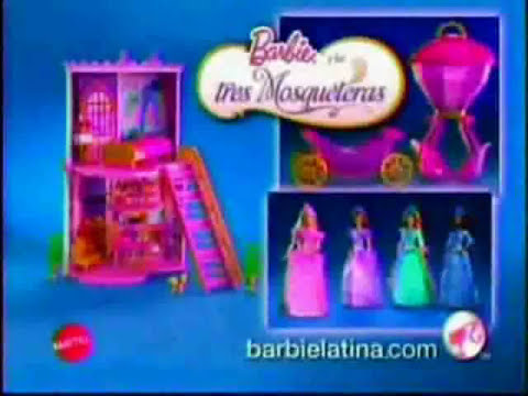 Barbie commercial barbie y las 3 mosqueteras (esp. latino) 2009