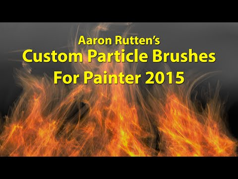 Painter 2015 Custom Particle Brushes by Aaron Rutten