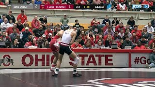 133 LBS: Jens Lantz (Wisconsin) vs. #6 Luke Pletcher (Ohio State)