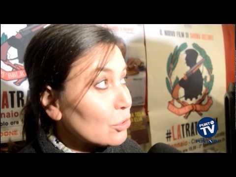 """Sabina Guzzanti a Corato per il film """"La Trattativa"""""""