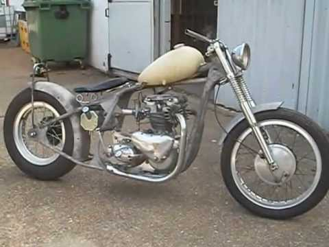 ... Speed Twin pre unit Bobber assembled by Fenland Choppers - YouTube