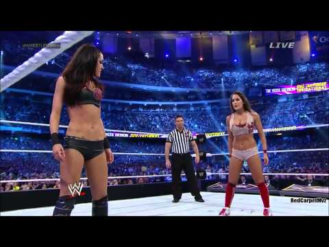 The Bella Twins fighting against each other + Nikki's Rack Attack