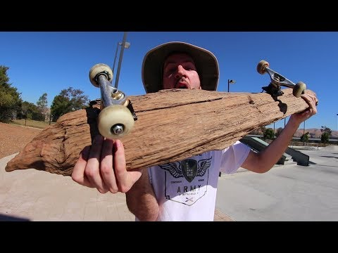 MASSIVE DRIFTWOOD PIECE SKATEBOARD! | YOU MAKE IT WE SKATE IT EP 153