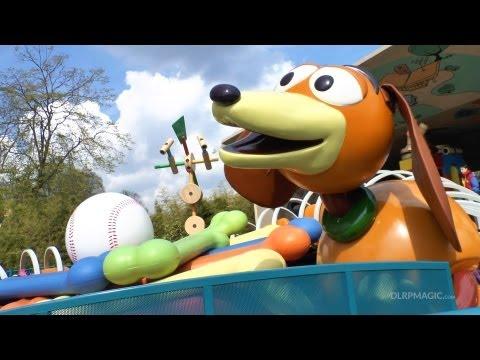 Slinky Dog Zigzag Spin - Disneyland Paris HD Complete Ridethrough Toy Story Playland
