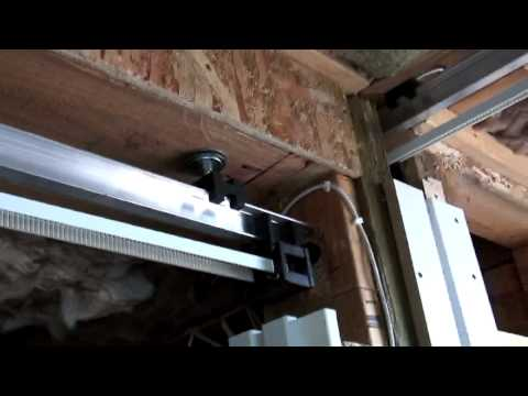 Dado Door: Electric Power Pocket Door Behind the scenes install video