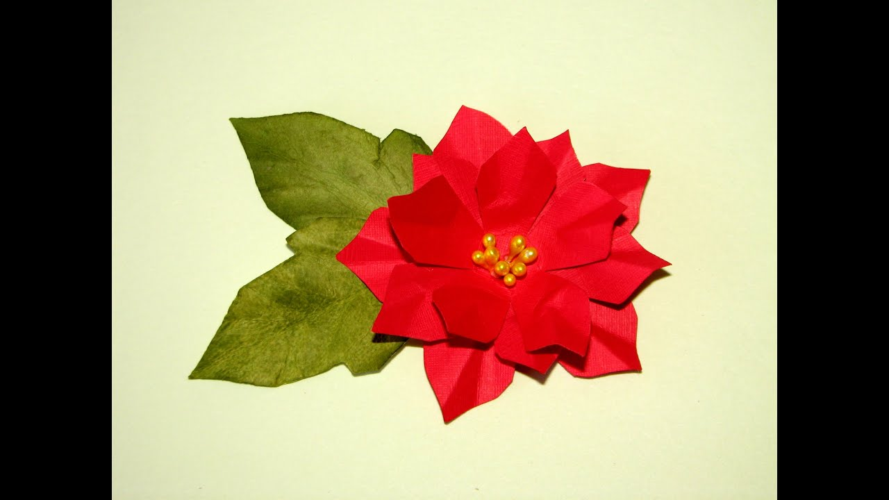 Paper Poinsettia Tutorial - YouTube