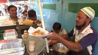 Indian Muslim Street Vendor Selling Chicken Biryani in Delhi Street   Only 35 Rs 250 Gram   Pt 2