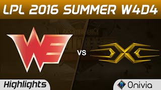 WE vs SS Highlights Game 3 Tencent LPL Summer 2016 W4D4 Team WE vs Sanke