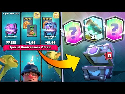 Clash Royale CRAZY SPECIAL OFFER! x4 Legendary Cards & FREE MAGICAL CHEST!