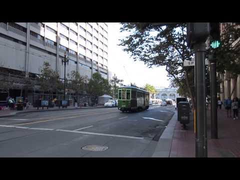 Muni F-Line Streetcar 1814 Milan Italy @ Market St & Spear St San Francisco California