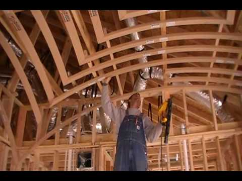 How To Frame A Groin Vault Ceiling Youtube