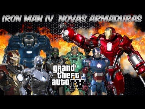 Iron Man IV [MOD GTA IV] - Novas Armaduras