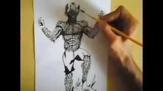 Como desenhar um lobisomem