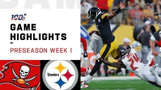Buccaneers vs. Steelers Preseason Week 1 Highlights | NFL 2019