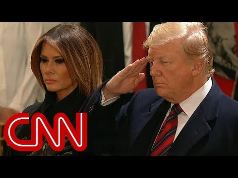 President Trump, First Lady pay their respects to President George H.W. Bush