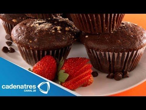 Receta para preparar muffins de microondas. Receta de muffins / Receta de postres
