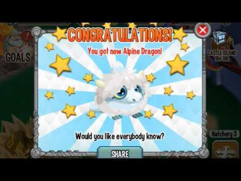 How to breed Alpine Dragon 100% Real! Dragon City Mobile! wbangcaHD!