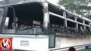 Two Employees Suspended In Warangal Bus Depot Fire Accident Issue  - netivaarthalu.com