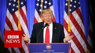 Donald Trump press conference highlights - BBC News