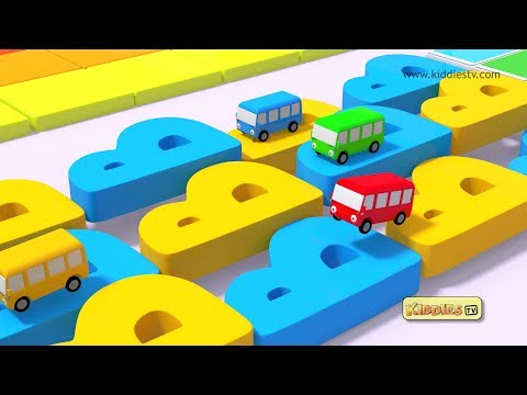 Wheels on the Bus Alphabets Rhyme | round and round | Kindergarten | Parents | Preschool  Kiddiestv