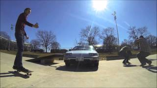 44 year old man jumps Honda CRX on skateboard