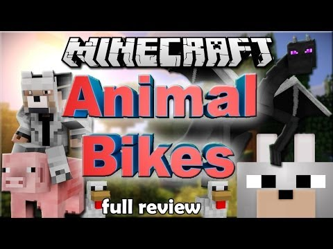Minecraft Mods - ANIMAL BIKES 1.6.4 Forge FULL Review and Tutorial