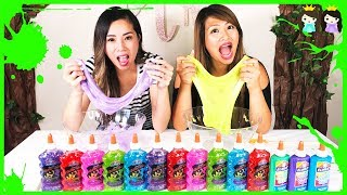 3 Colors of Glue Slime Challenge with Princess ToysReview!!!