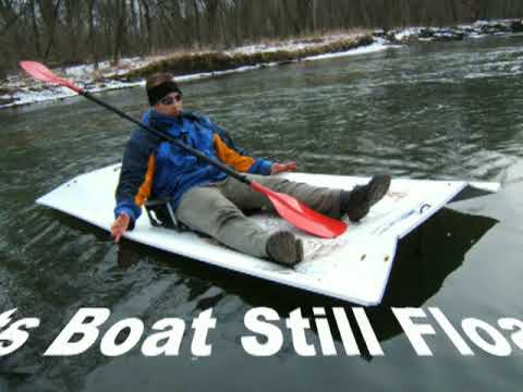 Folding Boat with No Parts Is Tough Enough
