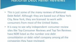 National Debt Relief Reviews online video