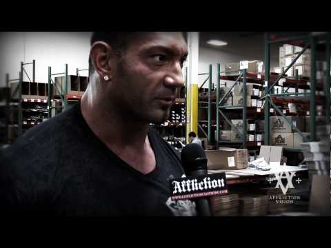DAVE BATISTA TRAINS AT AFFLICTION Video