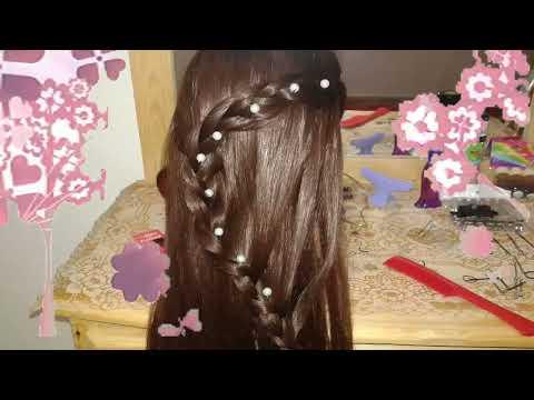 peinados faciles rapidos y bonitos con trenzas de moda para niña en cabello largo 2014 - 2015