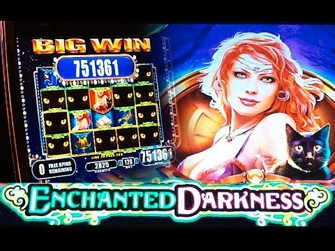 **GINORMOUS WIN** HANDPAY! Enchanted Darkness - Slot Machine Bonus