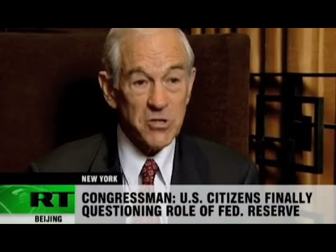 Ron Paul: FED evil; World 'War Mongering' Against Iran