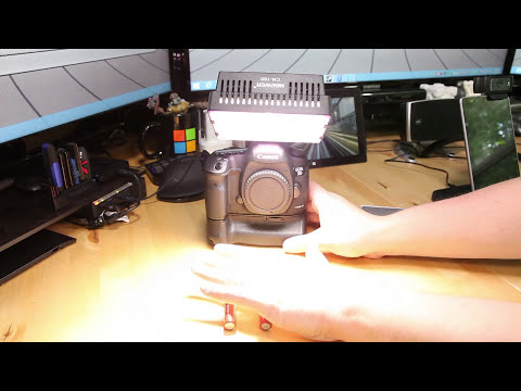 Reviewing Neewer Pro CN-160 LED camera video lamp light for Canon Nikon
