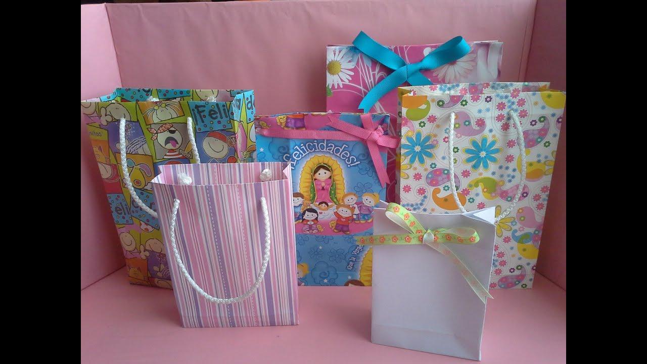 Como hacer una bolsa de papel para regalo youtube - Como hacer bolsas de regalo ...