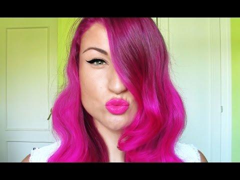 TUTORIAL:Cómo teñir el pelo/cabello de colorROSA FUXIAfantasiaSIN DECOLORACIÓN.rosa/morado