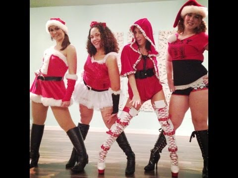 Sexy Santa Baby Chair Dance Lotus Fitness Studio Orlando, Fl