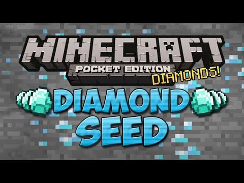 DIAMOND SEED : Under Spawn Minecraft Pocket Edition Seed 0.9.5