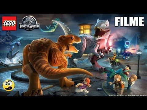 LEGO Jurassic World O FILME. O Mundo dos Dinossauros DUBLADO. Caraca Games