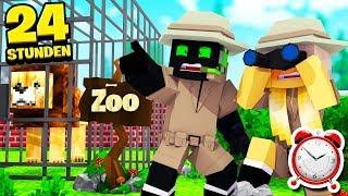 24 STUNDEN ÜBERNACHTEN im ZOO?! - Minecraft [Deutsch/HD]